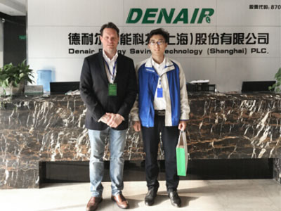 Canadian Customer from oil & gas plant for compressor visited DENAIR group