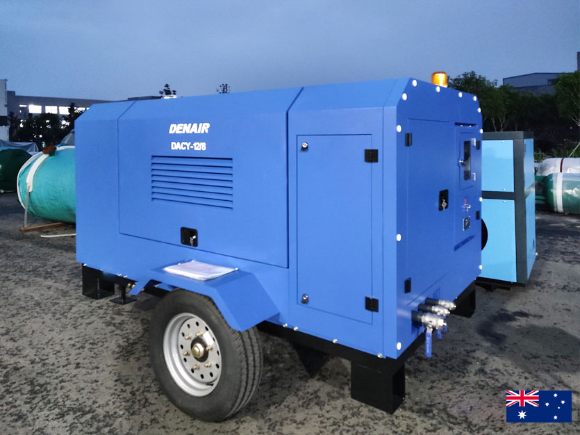 DENAIR Box Type Diesel Air Compressor for Australia