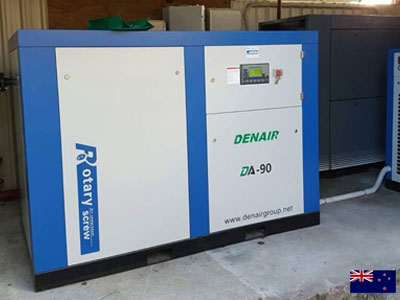 DENAIR Screw Air Compressors Work for New Zealand Customer Many Years!