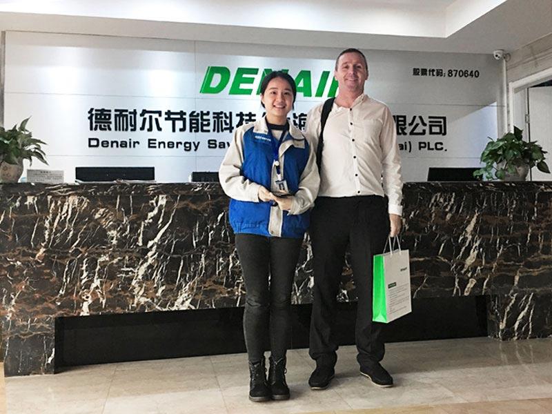 DENAIR air compressor factory,Ireland customer visit DENAIR