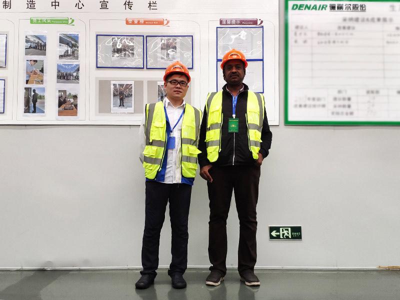 Sudan customer the biggest refrigerator factory visited DENAIR group