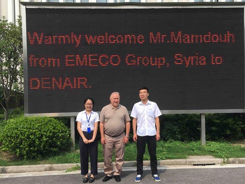 Syria Customer Visited DENAIR Factory